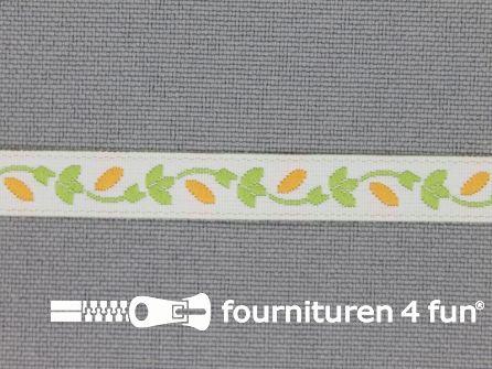 Kinderband 7mm licht groen - oranje