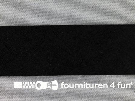 Suede band 30mm zwart