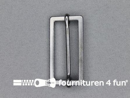 Schuifgesp 40mm zwart zilver