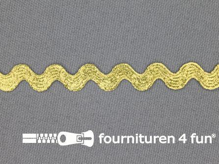 Zigzag band 10mm goud