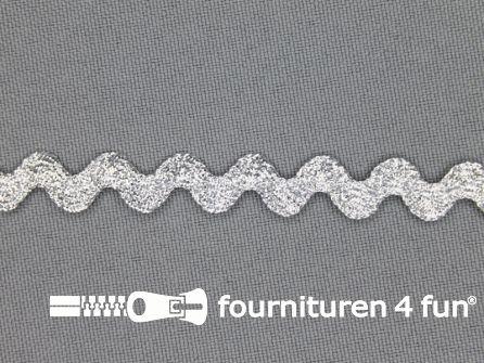 Zigzag band 10mm zilver