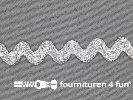 Zigzag band 11mm zilver