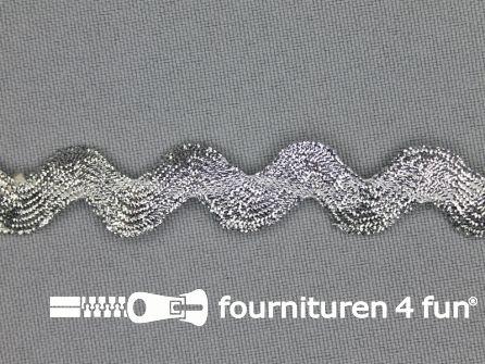 Zigzag band 14mm zilver