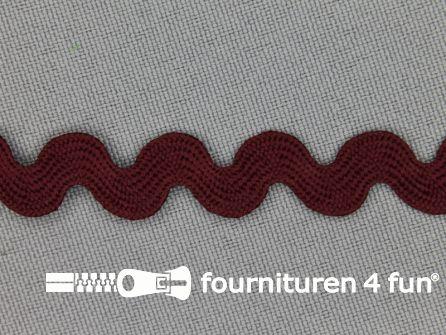 Zigzag band 11mm bordeaux rood