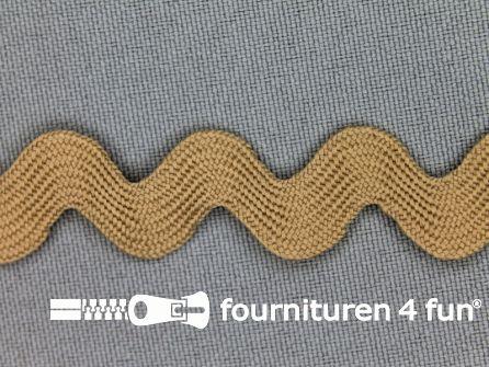 Zigzag band 15mm donker beige