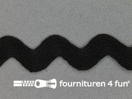 Zigzag band 15mm zwart