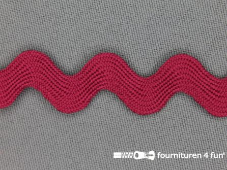 Zigzag band 15mm donker fuchsia