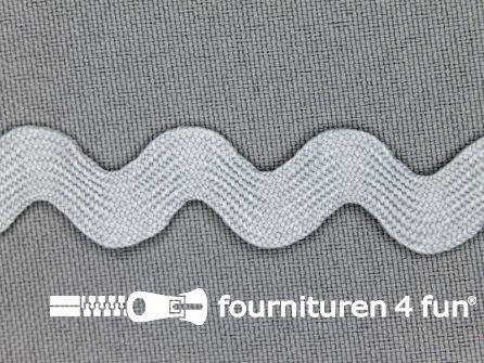 Zigzag band 15mm licht grijs