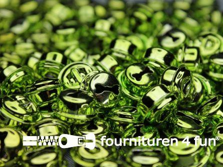 Belletjes 16mm lime groen 10 stuks