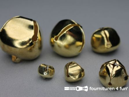 Belletjes 14mm goud 10 stuks