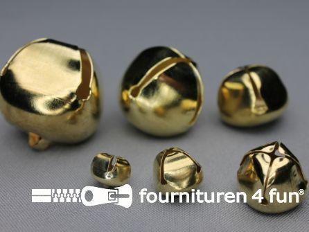Belletjes 17mm goud 8 stuks