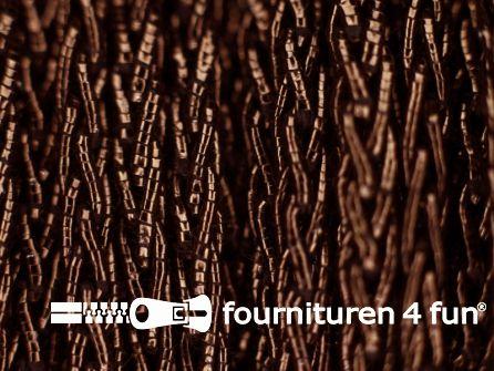 Metallic koord 2,5mm donker bruin