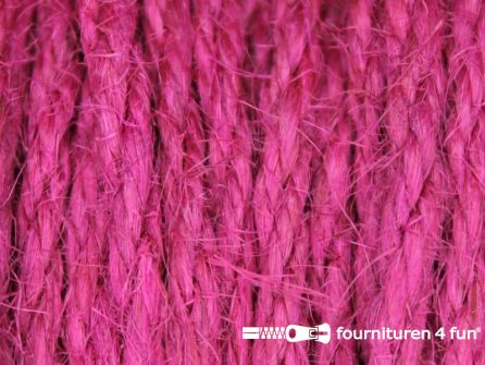 Jute koord 4mm fuchsia roze