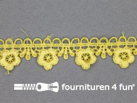 Bloemenkant 20mm licht geel