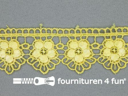Bloemenkant 30mm licht geel