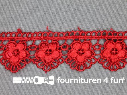 Bloemenkant 30mm rood