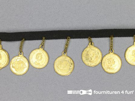 COUPON 1,80 meter Muntenband 37mm goud