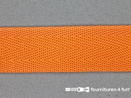 Soepel tassenband 25mm oranje