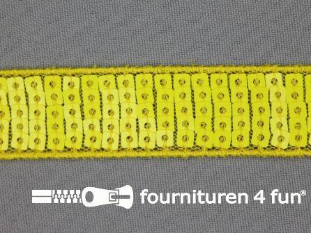 Pailletten band 22mm fel geel