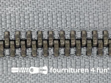 Niet deelbare bronzen rits 5mm grijs 16CM