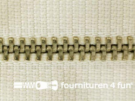 Niet deelbare broek rits metaal 4mm ecru