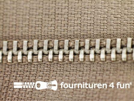 Niet deelbare broek rits metaal 4mm donker beige