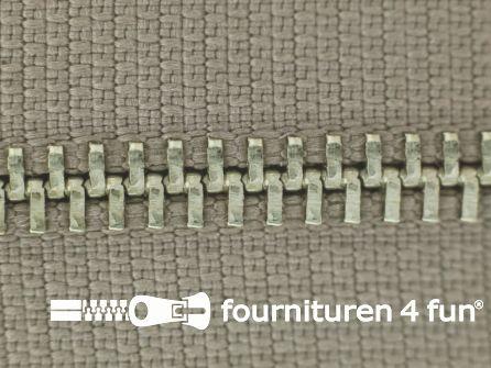 Niet deelbare broek rits metaal 4mm taupe