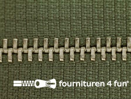 Niet deelbare broek rits metaal 4mm khaki leger groen