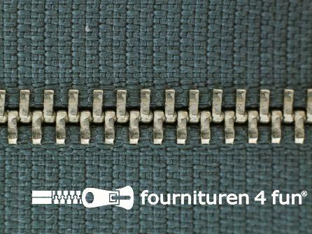 Niet deelbare broek rits metaal 4mm staal grijs