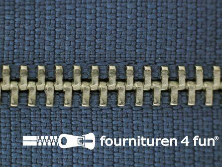Niet deelbare broek rits metaal 4mm jeans blauw