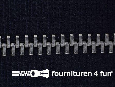 Niet deelbare broek rits metaal 4mm marine blauw