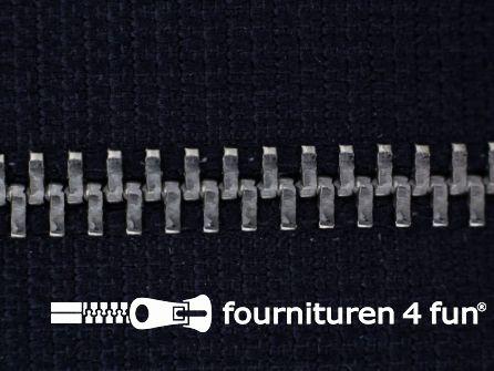 Niet deelbare broek rits metaal 6mm marine blauw