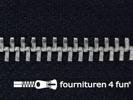 Niet deelbare broek rits metaal 4mm zwart