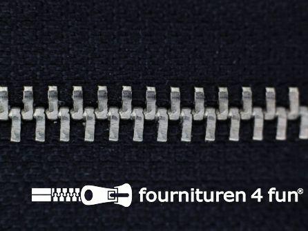 Niet deelbare broek rits metaal 6mm zwart