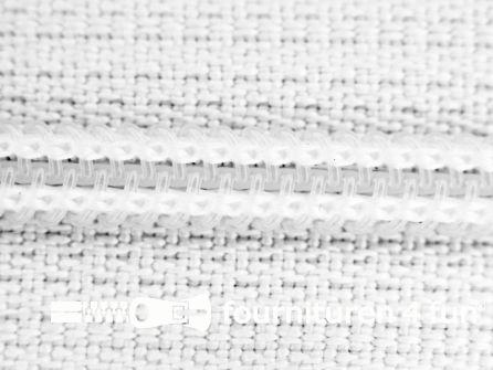 Niet deelbare broek rits nylon 4mm wit