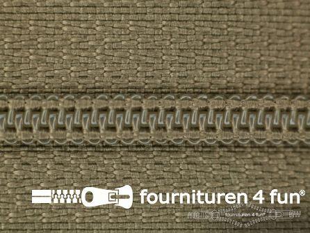 Niet deelbare nylon rits 3mm beige