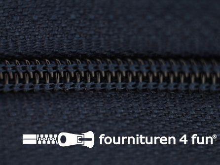 Niet deelbare nylon rits 3mm donker blauw