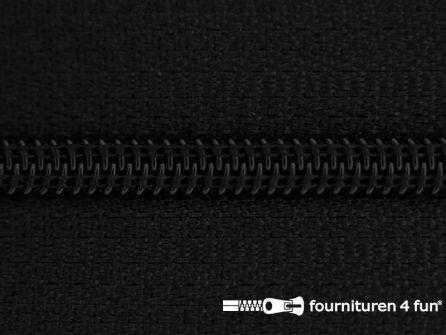 Niet deelbare nylon rits 3mm zwart