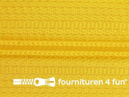 Niet deelbare nylon rits 3mm fel geel