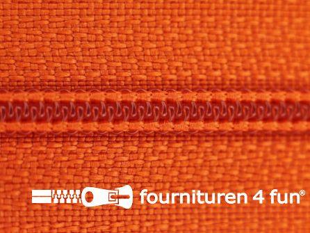 Niet deelbare nylon rits 3mm oranje