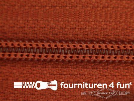 Niet deelbare nylon rits 3mm brique