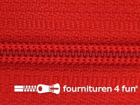 Niet deelbare nylon rits 3mm rood