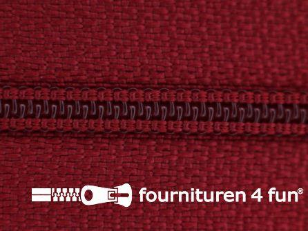 Niet deelbare nylon rits 3mm donker rood