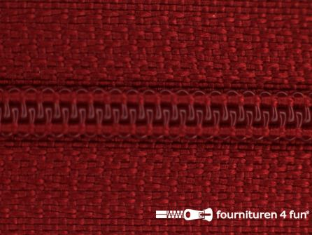 Niet deelbare nylon rits 3mm licht bordeaux