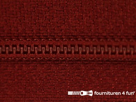 Niet deelbare nylon rits 3mm donker bordeaux