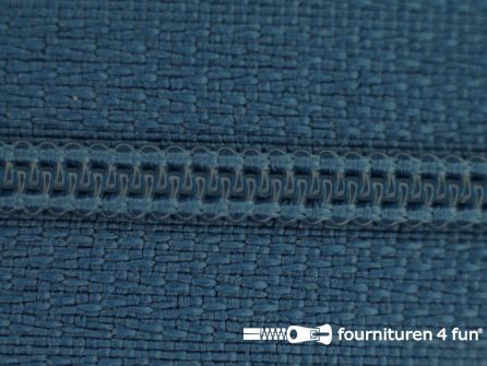 Niet deelbare nylon rits 3mm konings blauw
