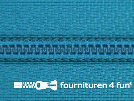 Niet deelbare nylon rits 3mm donker aquablauw