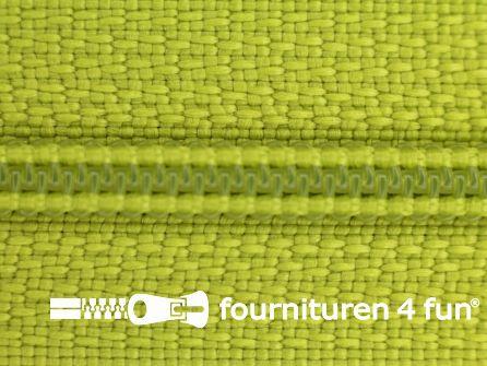 Niet deelbare nylon rits 3mm fel lime