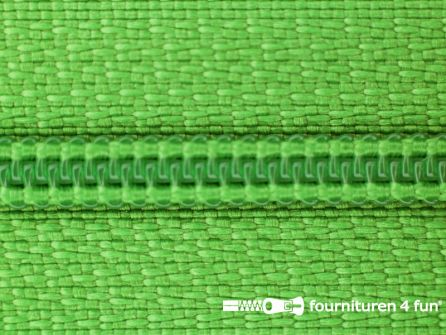 Niet deelbare nylon rits 3mm licht grasgroen