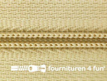 Niet deelbare nylon rits 3mm licht beige
